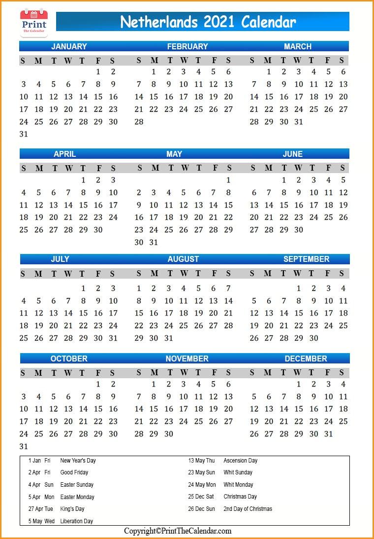 When Does Christmas Break Start 2021-2021 Netherlands Holidays 2021 2021 Calendar With Netherlands Holidays